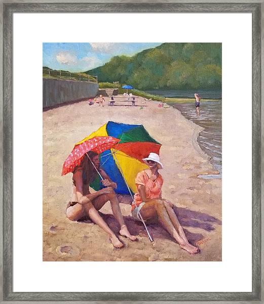 Summer At Jersey Valley Framed Print
