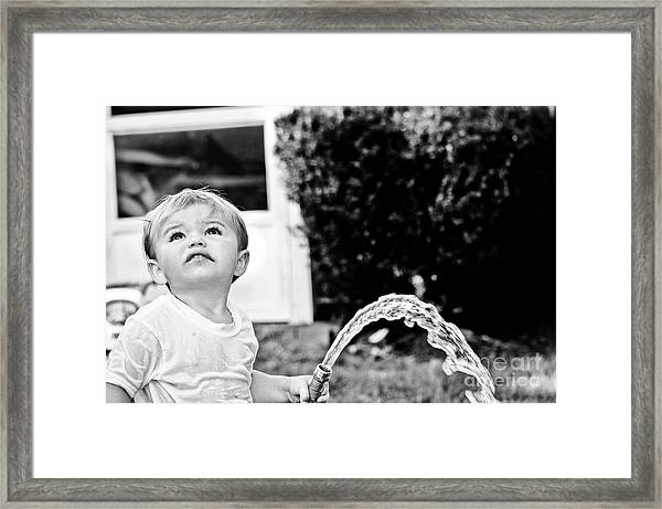 Summer Cool Down Framed Print