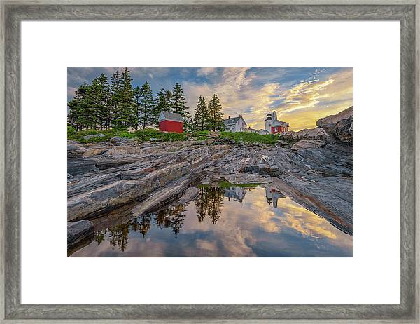 Summer Morning At Pemaquid Point Lighthouse Framed Print