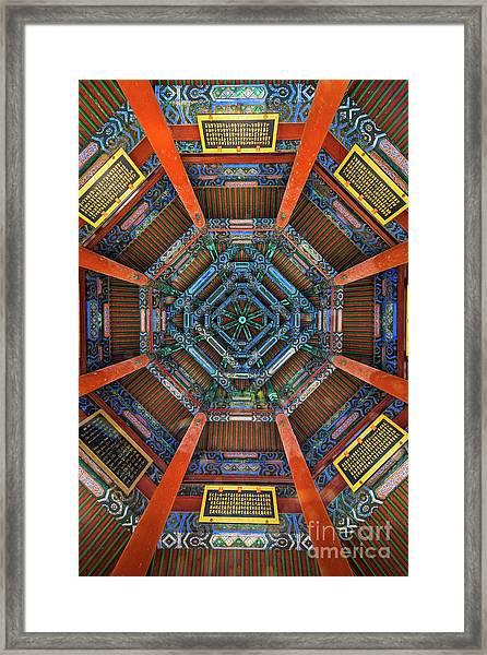 Summer Palace Ceiling Framed Print