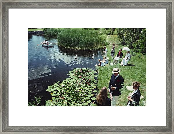 Summer Picnic Framed Print by Slim Aarons