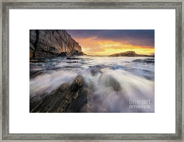 Summer Sunrise At Bald Head Cliff Framed Print