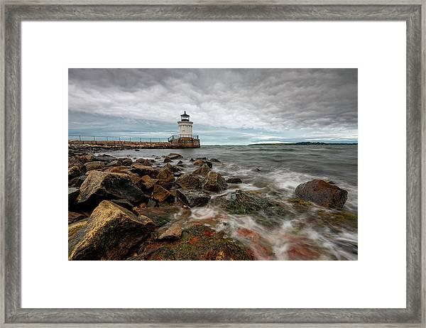 Summer Tides At Bug Light Framed Print