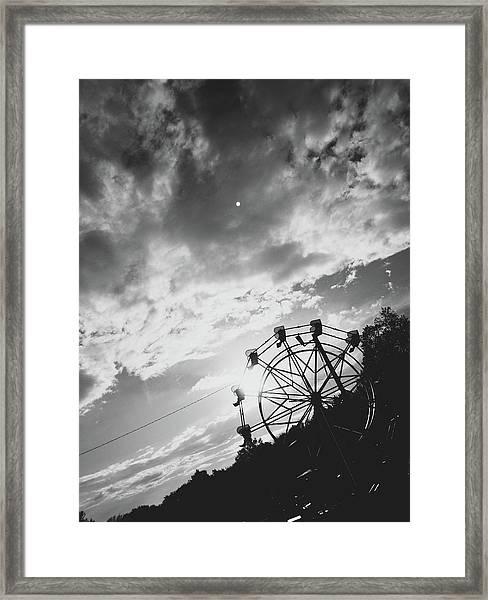 Summertime Wheeling Framed Print