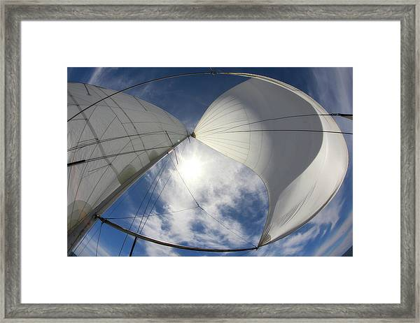 Sun And Sails Framed Print