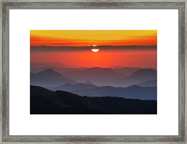 Sun Eye Framed Print