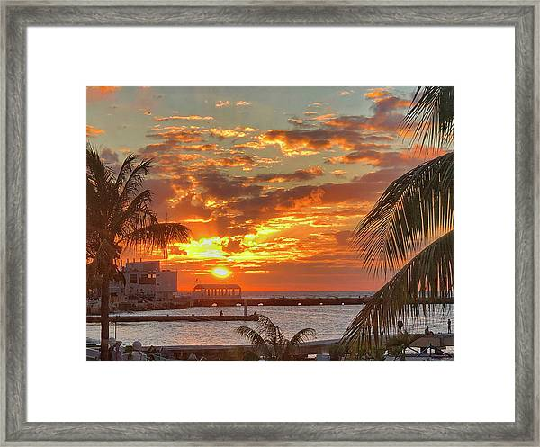 Sun Is Setting Framed Print