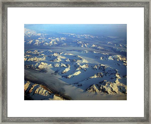 Sun Kissed Glaciers Framed Print