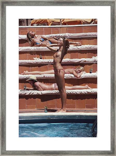 Sunbathing On Capri Framed Print