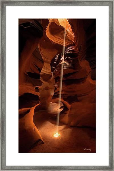 Sunbeam In Upper Antelope Canyon Framed Print