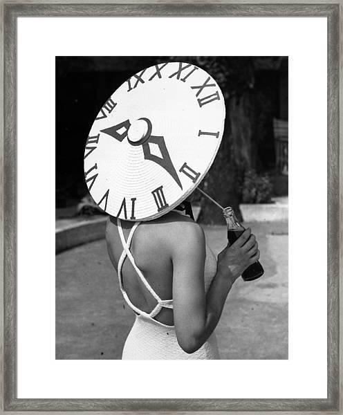 Sundial Hat Framed Print by Gerry Cranham