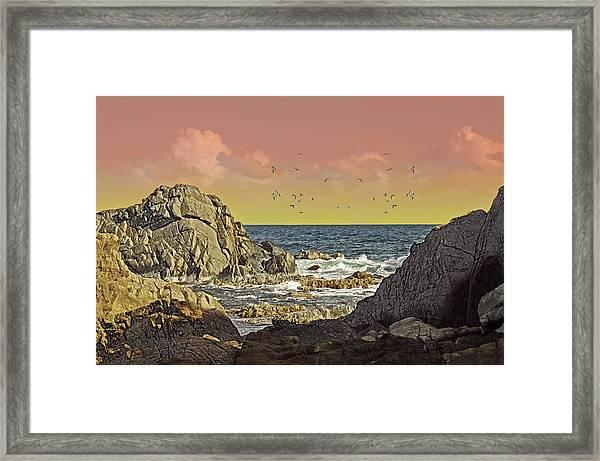 Sundown At Buck Framed Print