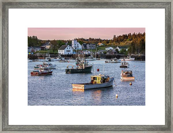 Sundown At Cutler, Maine Framed Print