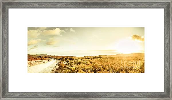 Sundown Bend Framed Print