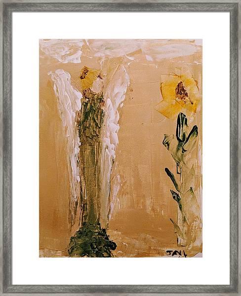 Sunflower Angel Framed Print