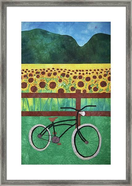 Sunflowers At Whitehall Farm Framed Print