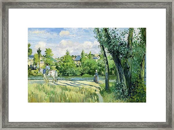 Sunlight On The Road, Pontoise - Digital Remastered Edition Framed Print