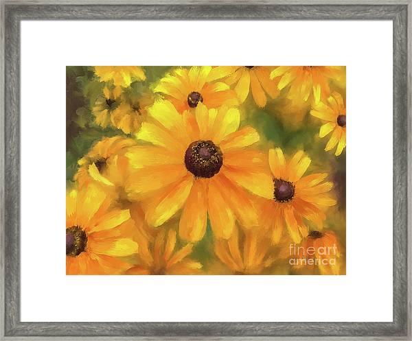 Sunny Pinwheels Framed Print