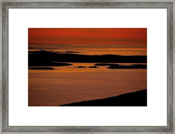 Sunrise Cadillac Mountain Framed Print