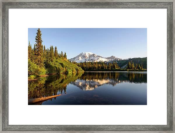 Sunrise In Mt Rainier  Framed Print