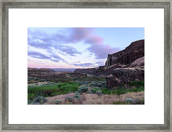 Sunrise In The Ancient Lakes Framed Print