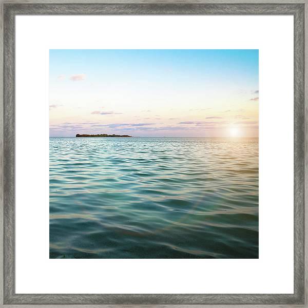 Sunrise In The Florida Keys Framed Print
