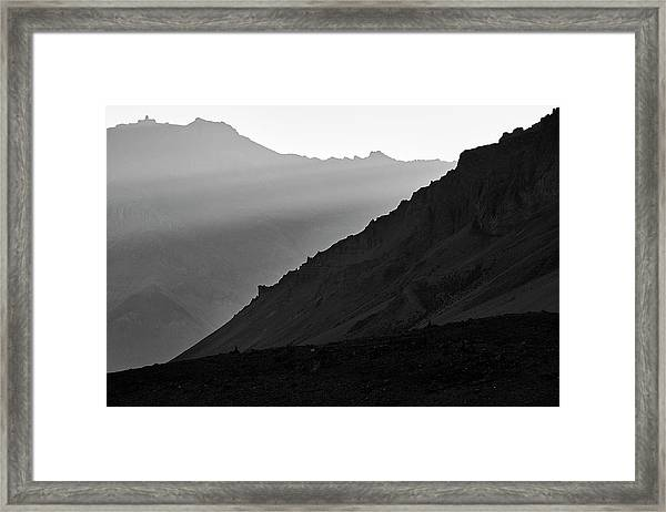 Framed Print featuring the photograph Sunrise In The Himalayas by Whitney Goodey