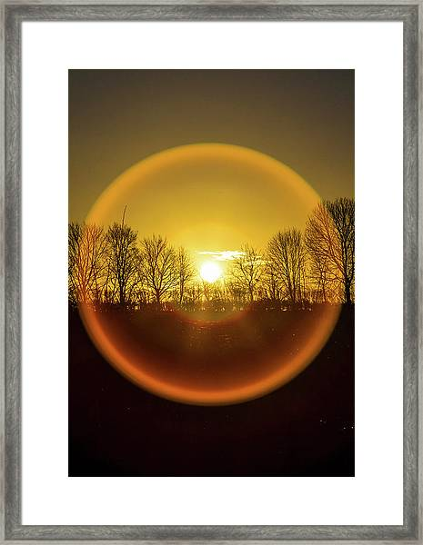 Sunrise. New Years Eve. Framed Print