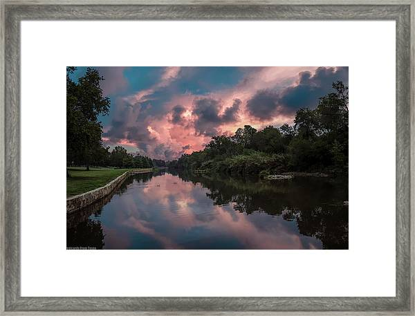 Sunrise On The River Framed Print