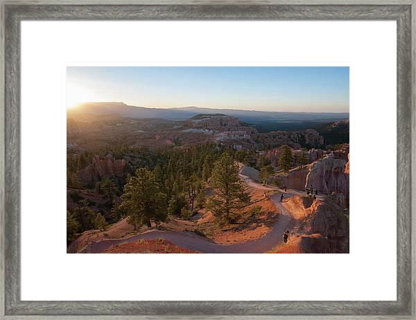 Sunrise Over Bryce Canyon Framed Print
