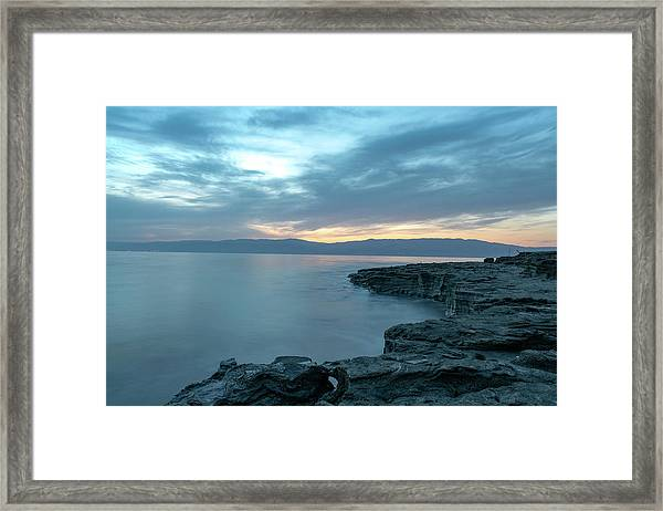 Before Dawn At The Dead Sea Framed Print