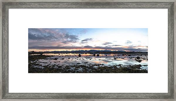 Sunrise Over The Marsh Framed Print