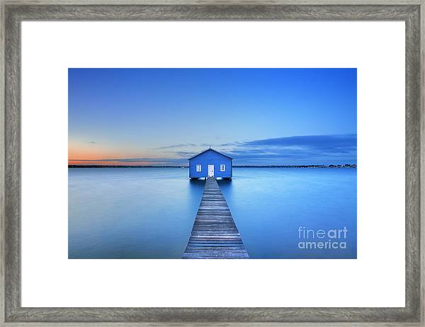 Sunrise Over The Matilda Bay Boathouse Framed Print