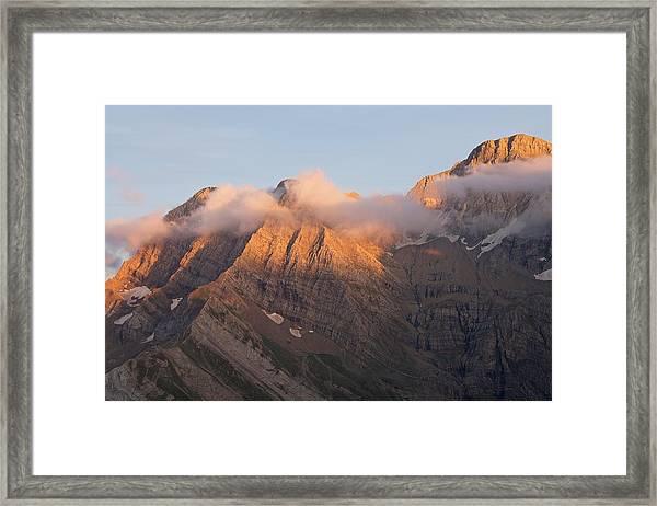 Sunset Above Gavarnue Framed Print