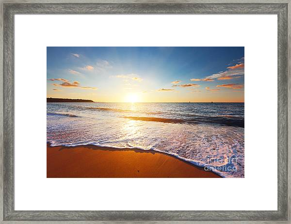 Sunset And Sea Framed Print