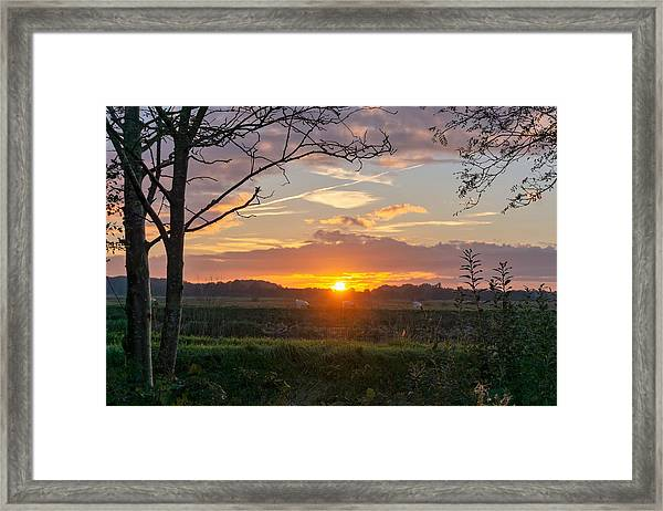 Framed Print featuring the photograph Sunset by Anjo Ten Kate