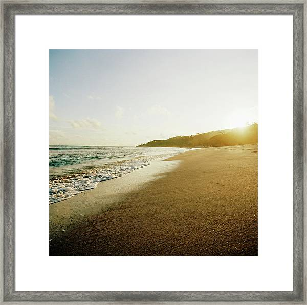 Sunset At A Beach Of Petit-goave, Haiti Framed Print