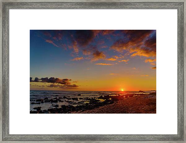 Sunset At Kailua Beach Framed Print