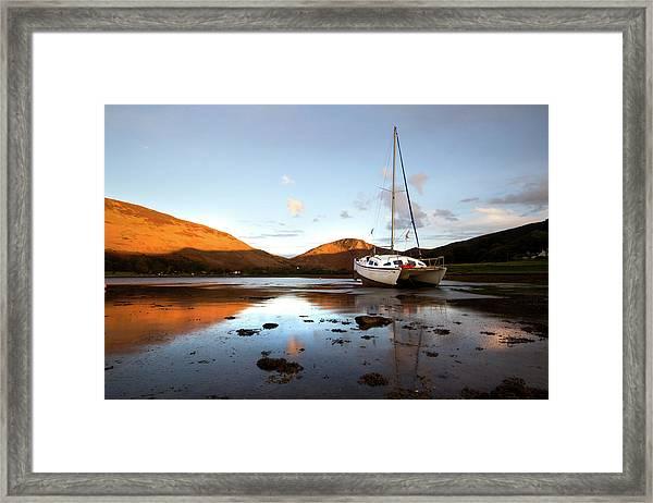 Sunset At Lochranza Framed Print