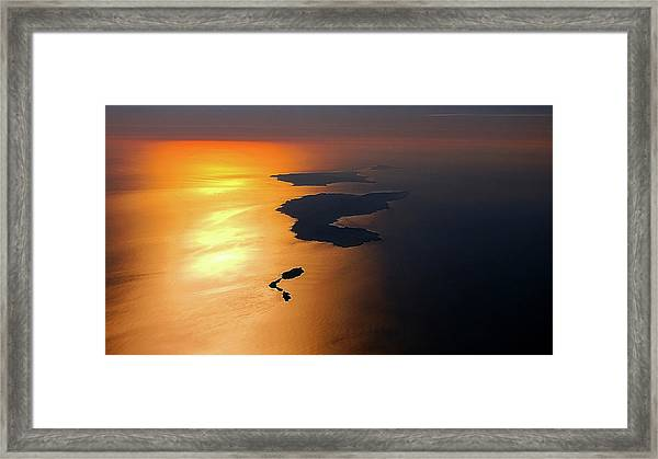 Sunset At Lyon Rock Framed Print