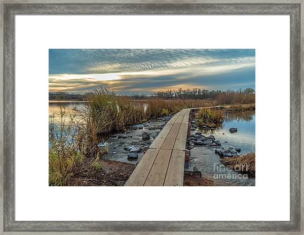 Sunset At Purgatory Creek Framed Print