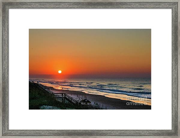 Sunset At Surf City Nc Framed Print