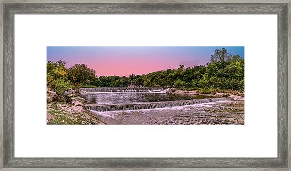 Sunset At The Falls Framed Print