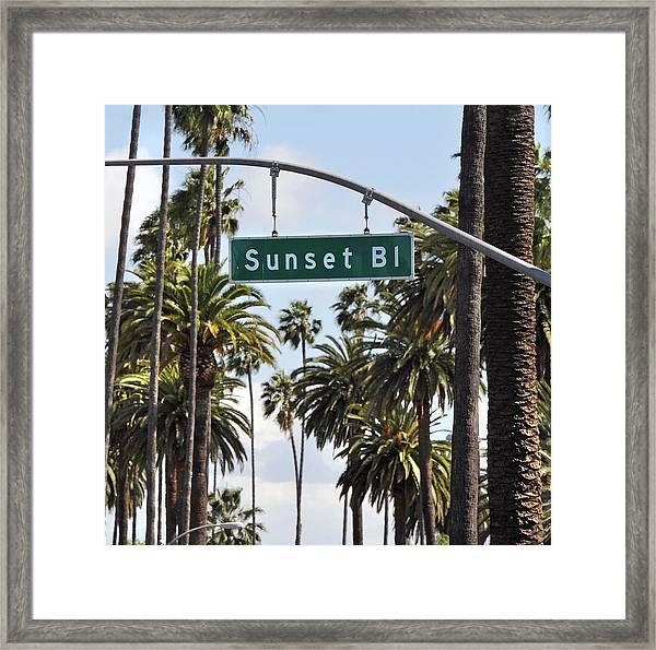 Sunset Blv Framed Print