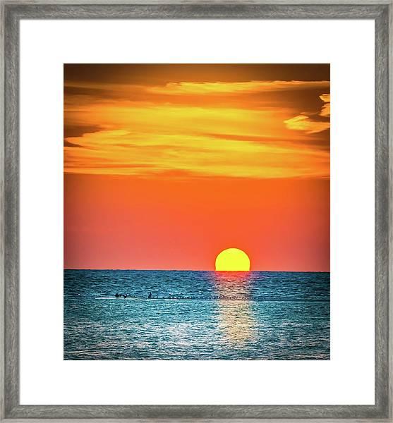 Sunset Captiva  Framed Print