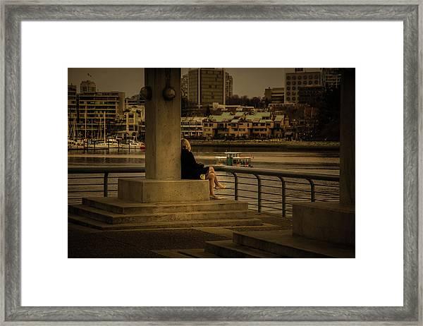 Sunset Enjoyment Framed Print