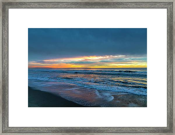 Sunset Fire Over Catalina Island 2 Framed Print