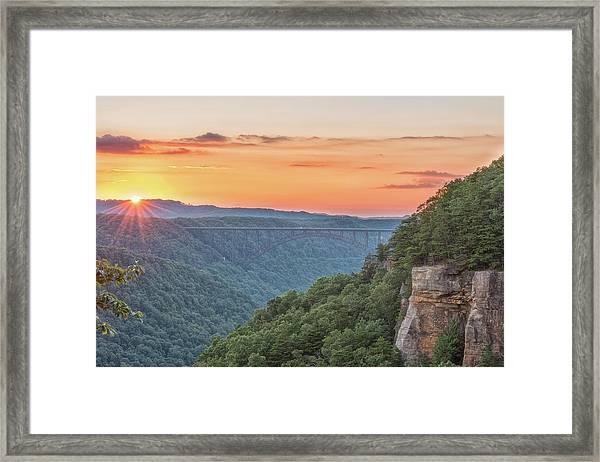 Sunset Flare Framed Print