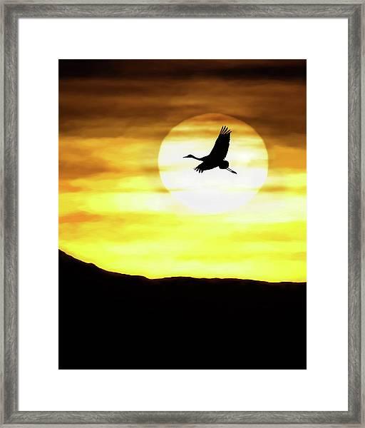 Sunset Flyway Framed Print