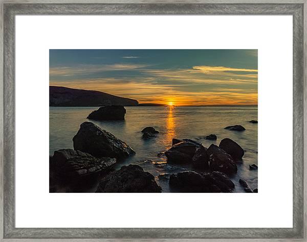 Sunset In Balandra Framed Print
